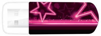 Флеш диск Verbatim Mini Neon Edition 16ГБ USB2.0 розовый / рисунок