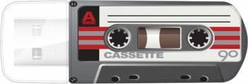 Флеш диск Verbatim Mini Cassette Edition 32ГБ USB2.0 черный / рисунок