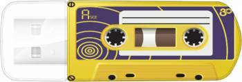 Флеш диск Verbatim Mini Cassette Edition 32ГБ USB2.0 желтый / рисунок
