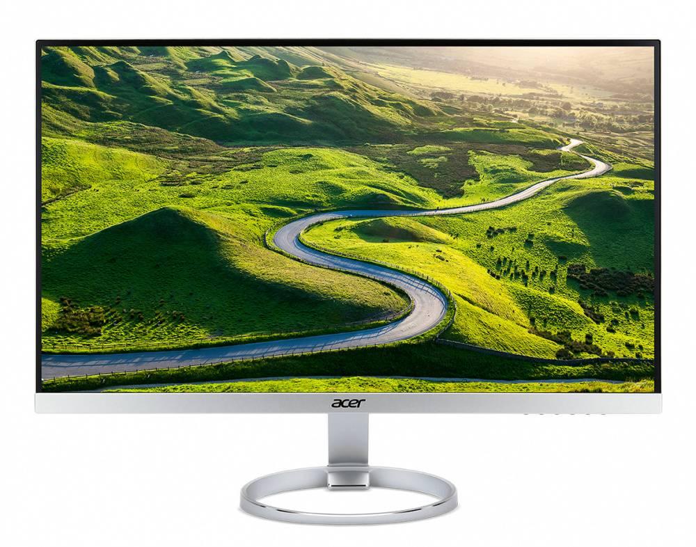 """Монитор Acer H277HUsmipuz серебристый, диагональ экрана 27"""", разрешение 2560x1440, тип матрицы IPS, полуматовая, время отклика 4ms, соотношение сторон 16:9, яркость 350cd, разъемы HDMI DisplayPort USB (UM.HH7EE.018) - фото 1"""