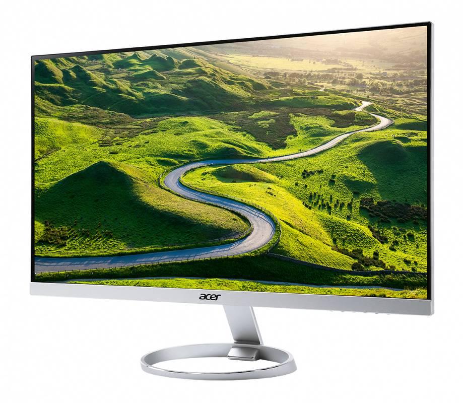 """Монитор Acer H277HUsmipuz серебристый, диагональ экрана 27"""", разрешение 2560x1440, тип матрицы IPS, полуматовая, время отклика 4ms, соотношение сторон 16:9, яркость 350cd, разъемы HDMI DisplayPort USB (UM.HH7EE.018) - фото 2"""