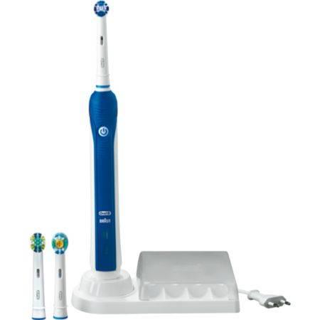 Электрическая зубная щетка Oral-B 3000 белый/синий - фото 1