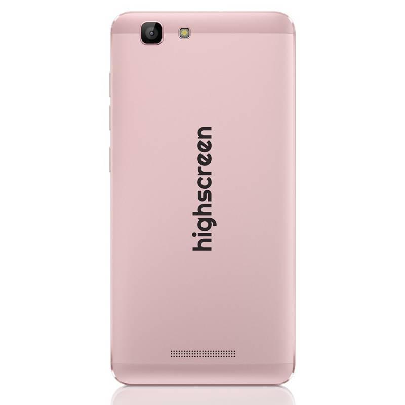 Смартфон HighScreen Tasty 16ГБ розовое золото - фото 2