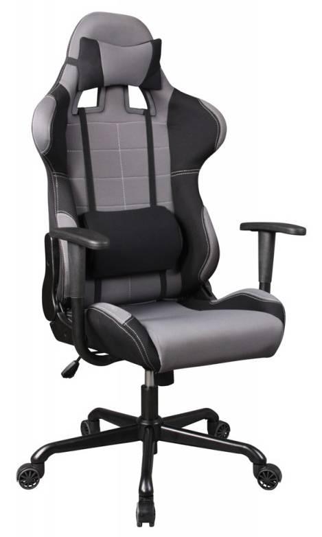 Кресло игровое Бюрократ 771 серый (771/GREY+BL) - фото 1