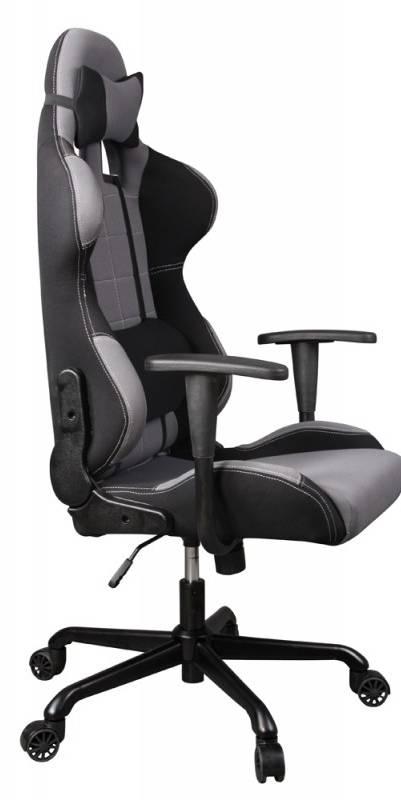 Кресло игровое Бюрократ 771 серый (771/GREY+BL) - фото 4