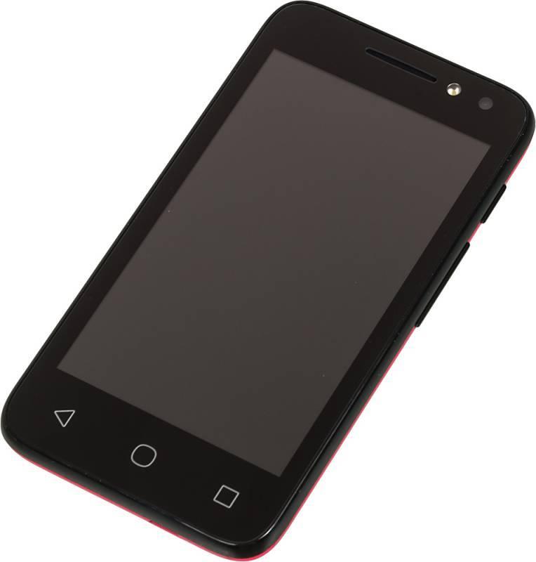 Смартфон Alcatel Pixi 4 4034D 4ГБ розовый/черный - фото 2