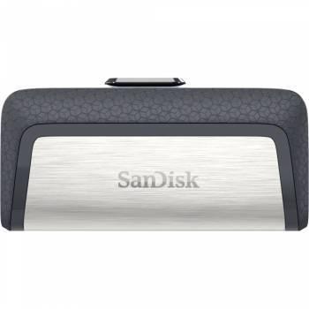 Флеш диск 128Gb Sandisk Ultra Dual USB3.0 серый / узор