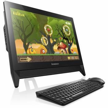 Моноблок Lenovo C20-00 черный, диагональ экрана 19.5, разрешение 1600x900, процессор Intel Celeron J3160 1.60ГГц, оперативная память DDR3 4096МБ, жесткий диск 500Gb, видеокарта Intel HD Graphics 400, DVDRW, CR, Windows 10 64-bit, GbitEth, WiFi, в комплек