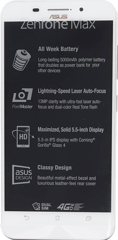 Смартфон Asus ZenFone Max ZC550KL 32ГБ белый - фото 1