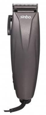 Машинка для стрижки волос Sinbo SHC 4361 серый/фиолетовый, насадок в комплекте 4 шт, 8Вт, питание от сети