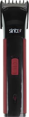 Машинка для стрижки волос Sinbo SHC 4365 черный/красный, насадок в комплекте 1 шт, питание от сети