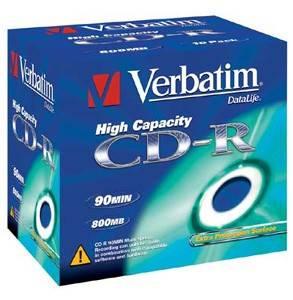 Диск CD-R Verbatim 800Mb 40x (10шт) (43428)