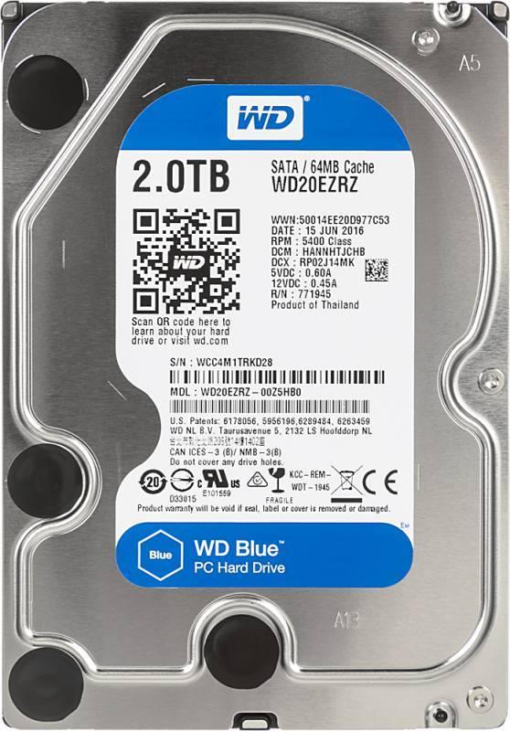 Жесткий диск 2Tb WD Blue WD20EZRZ SATA-III - фото 4