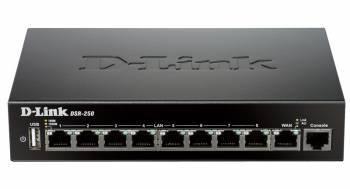 Сетевой экран D-Link DSR-250/A2A черный