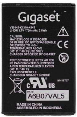 Аккумулятор Gigaset SL400H 750mAh for DECT (s30852-d2152-x1)