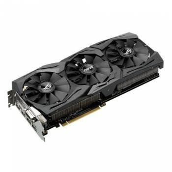 Видеокарта Asus STRIX-GTX1080-8G-GAMING, процессор nVidia GeForce GTX 1080 1607 МГц, объем видеопамяти 8192 Мб 256 бит GDDR5X 10010 МГц, интерфейс PCI-E, разъёмы DVIx1/HDMIx2/DPx2, поддержка HDCP, Ret