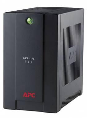 Источник бесперебойного питания APC Back-UPS BC650-RSX761 back черный, мощность 650ВА, 360Вт, розеток EURO 4шт