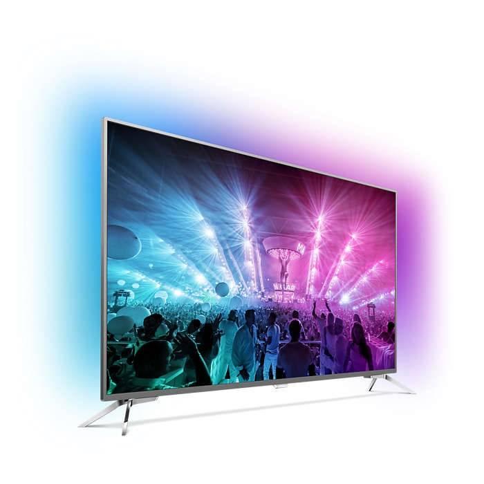 "Телевизор LED 55"" Philips 55PUS7101/60 темный металлик - фото 2"