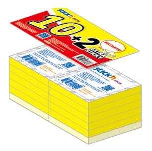 Блок самоклеящийся бумажный Hopax 27060 400лист. 70г / м2 неон желтый
