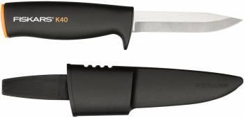 Нож садовый Fiskars K40 большой черный/оранжевый (1001622)