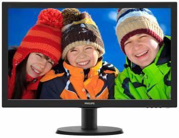 Монитор 23.6 Philips 243V5QSBA (00 / 01) черный