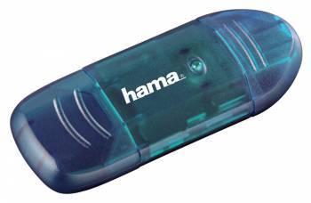 Картридер USB2.0 Hama H-114730 синий (00114730)