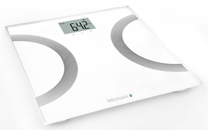 Весы напольные электронные Medisana BS 445 Connect белый/серебристый (40441) - фото 1