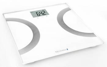 Весы напольные электронные Medisana BS 445 Connect белый / серебристый