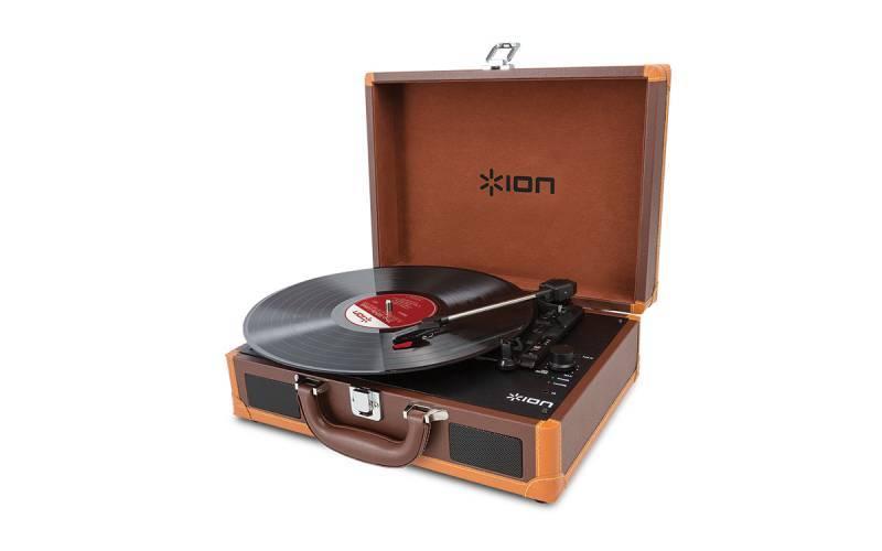 Виниловый проигрыватель ION Audio MOTION DELUXE brown коричневый - фото 1