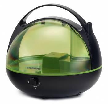 Увлажнитель воздуха Starwind SHC3415 черный / зеленый