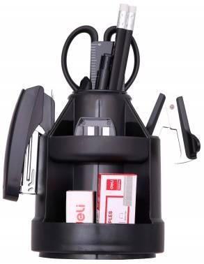 Настольный набор Deli E38250A (15 предметов) черный