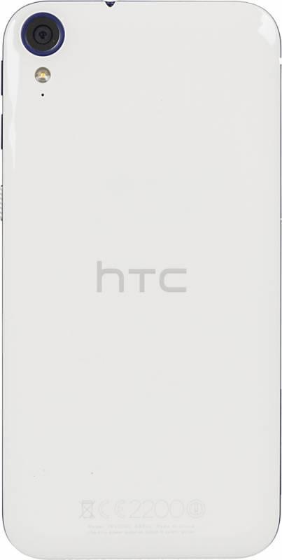 Смартфон HTC 830G белый/голубой - фото 3