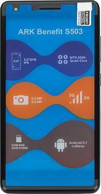 Смартфон ARK Benefit S503 8ГБ черный