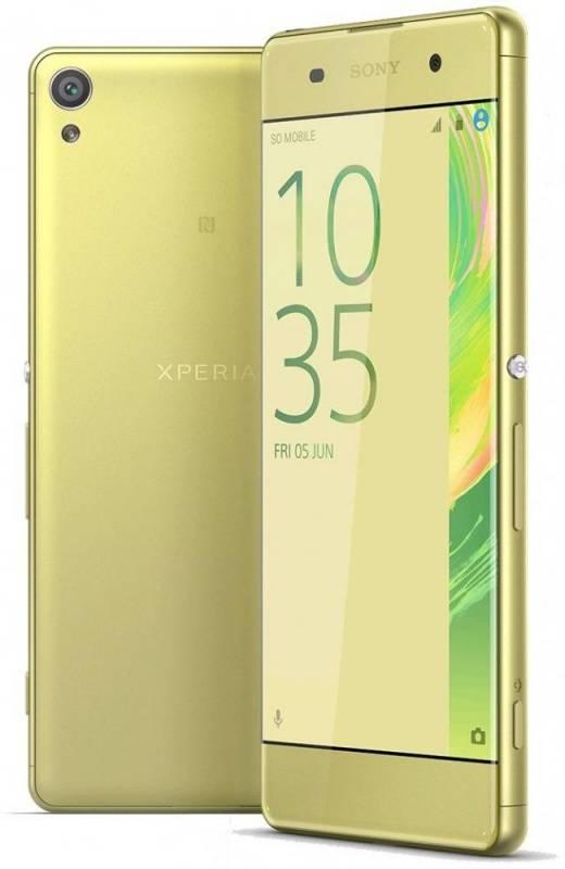 Смартфон Sony Xperia XA F3111 16ГБ зеленый лайм - фото 1