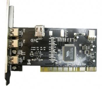 Контроллер PCI VIA6306, 1xIEEE1394(4p), 3xIEEE1394(6p), Bulk (IEEE1394 (3+1)P)