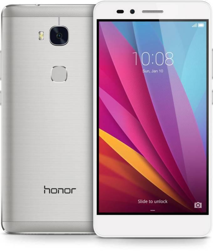 Смартфон Huawei Honor 5X 16ГБ серебристый - фото 1