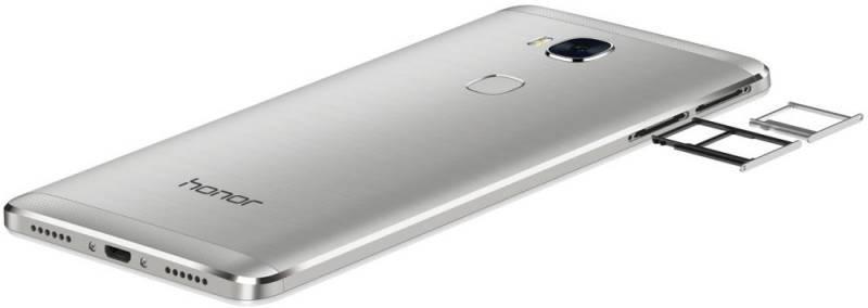 Смартфон Huawei Honor 5X 16ГБ серебристый - фото 4
