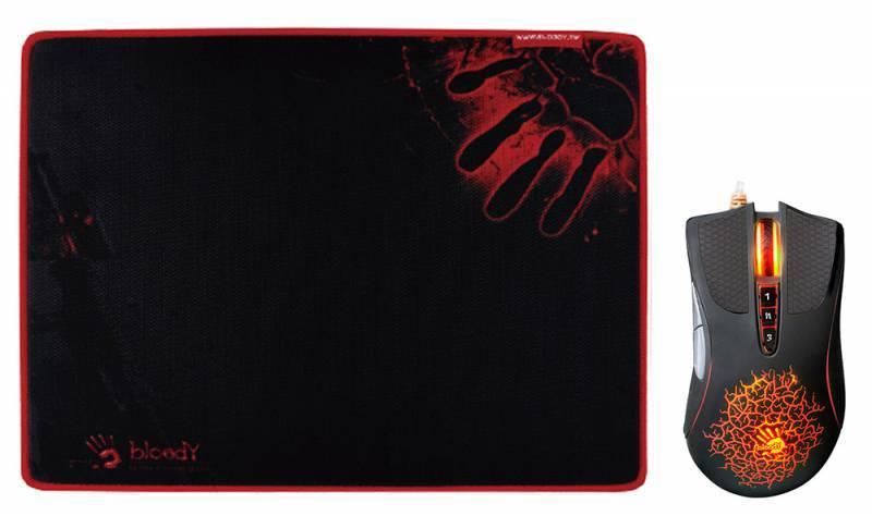 Мышь A4 Bloody A9081 черный (A90+B-081) - фото 1