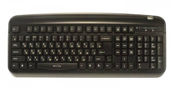 Клавиатура Oklick 300M черный - фото 1