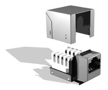 Модуль информационный Brand-Rex FTP GPCJAKF012 Keystone RJ45 кат.5e черный - фото 1