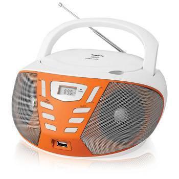 Магнитола BBK BX193U белый / оранжевый