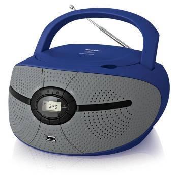 Магнитола BBK BX195U голубой / серый