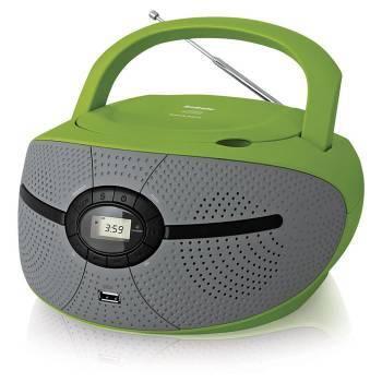 Магнитола BBK BX195U зеленый / серый