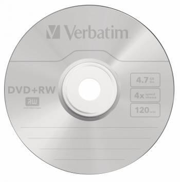 Диск DVD+RW Verbatim 4.7Gb 4x (10шт) (43488)