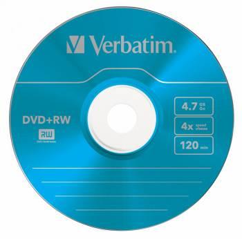 Диск DVD+RW Verbatim 4.7Gb 4x (5шт) (43297)