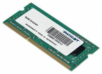 Модуль памяти SO-DIMM DDR3 4Gb 1600MHz Patriot (PSD34G160082S) unbuffered Ret