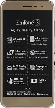 Смартфон Asus ZenFone ZF3 ZE520KL 32ГБ золотистый