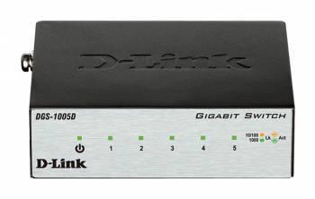 Коммутатор неуправляемый D-Link (DGS-1005D / I2A)