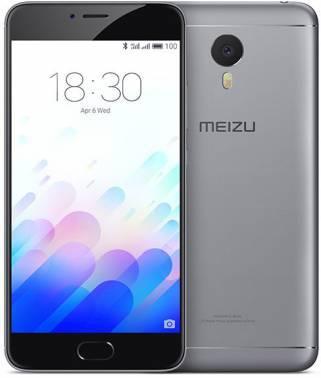 Смартфон Meizu L681H M3 Note 16Gb серый/черный моноблок 3G 4G 2Sim 5.5 1920x1080 Android 5.1 13Mpix 802.11abgnac BT GPS GSM900/1800 GSM1900 MP3 A-GPS microSD max128Gb (L681H 16GB GRAY)