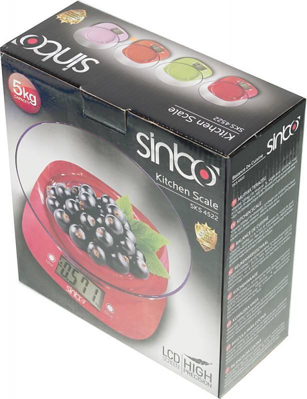 Кухонные весы Sinbo SKS 4522 оранжевый - фото 4